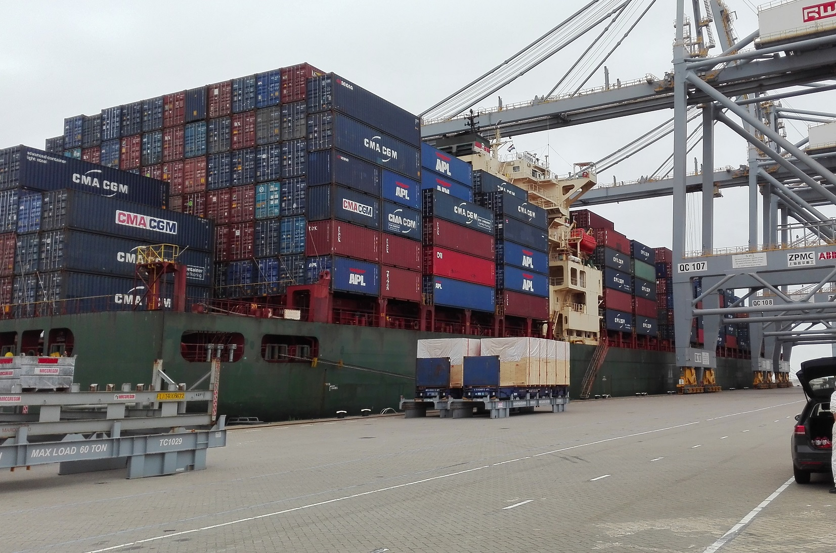 ship condition inspection owners rotterdam container ship