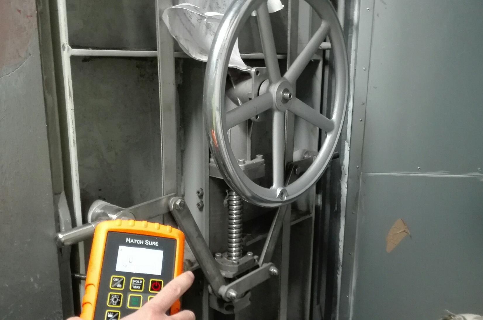 ultrasonic-test-watertight-doors-comissioning-spain-cadiz-gibraltar-vigo-castropol-drydock-shipyard