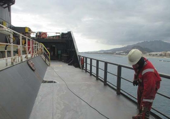 marine-surveyor-spain-garrucha-self-unloader-ship-condition-inspection